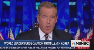 Brian Williams, de MSNBC: «Mon travail est de vous paniquer à mort»