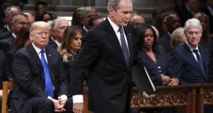 Trump toujours sous le choc d'avoir vu George Bush aux funérailles de George Bush